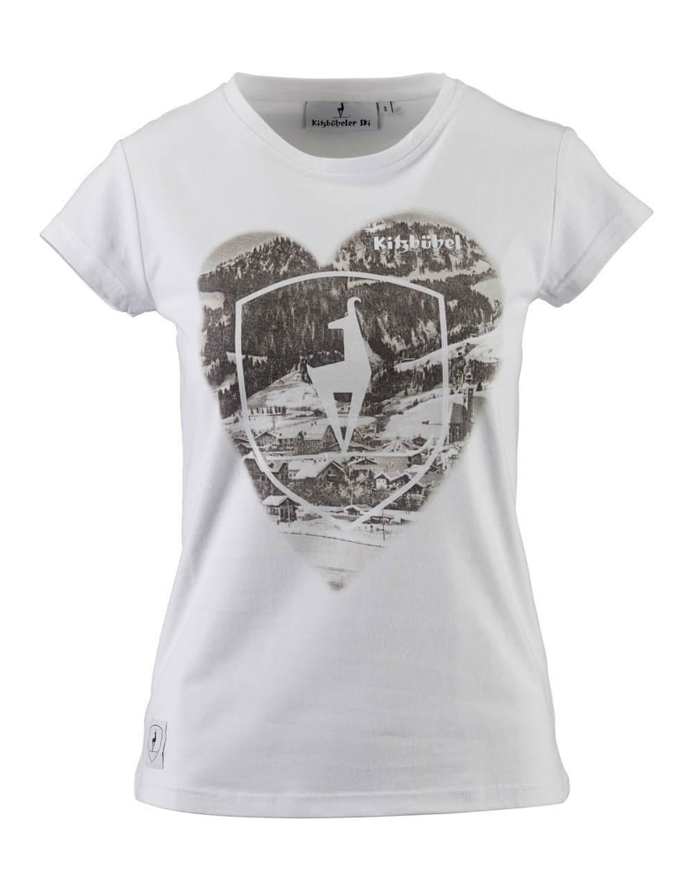 681523800 Damen T-Shirt weiss herz