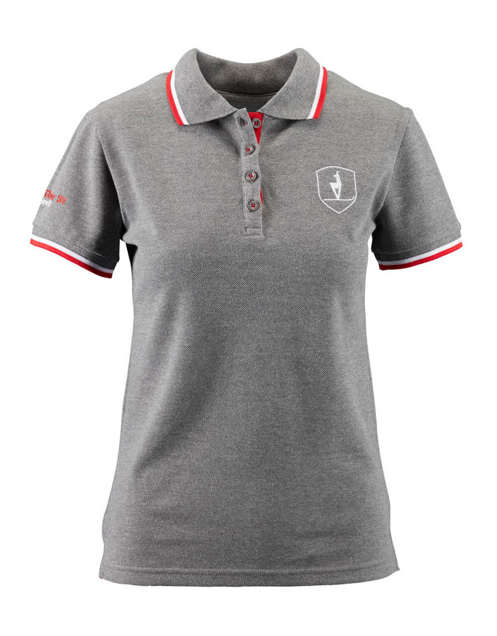 689126415 Damen Polo grau