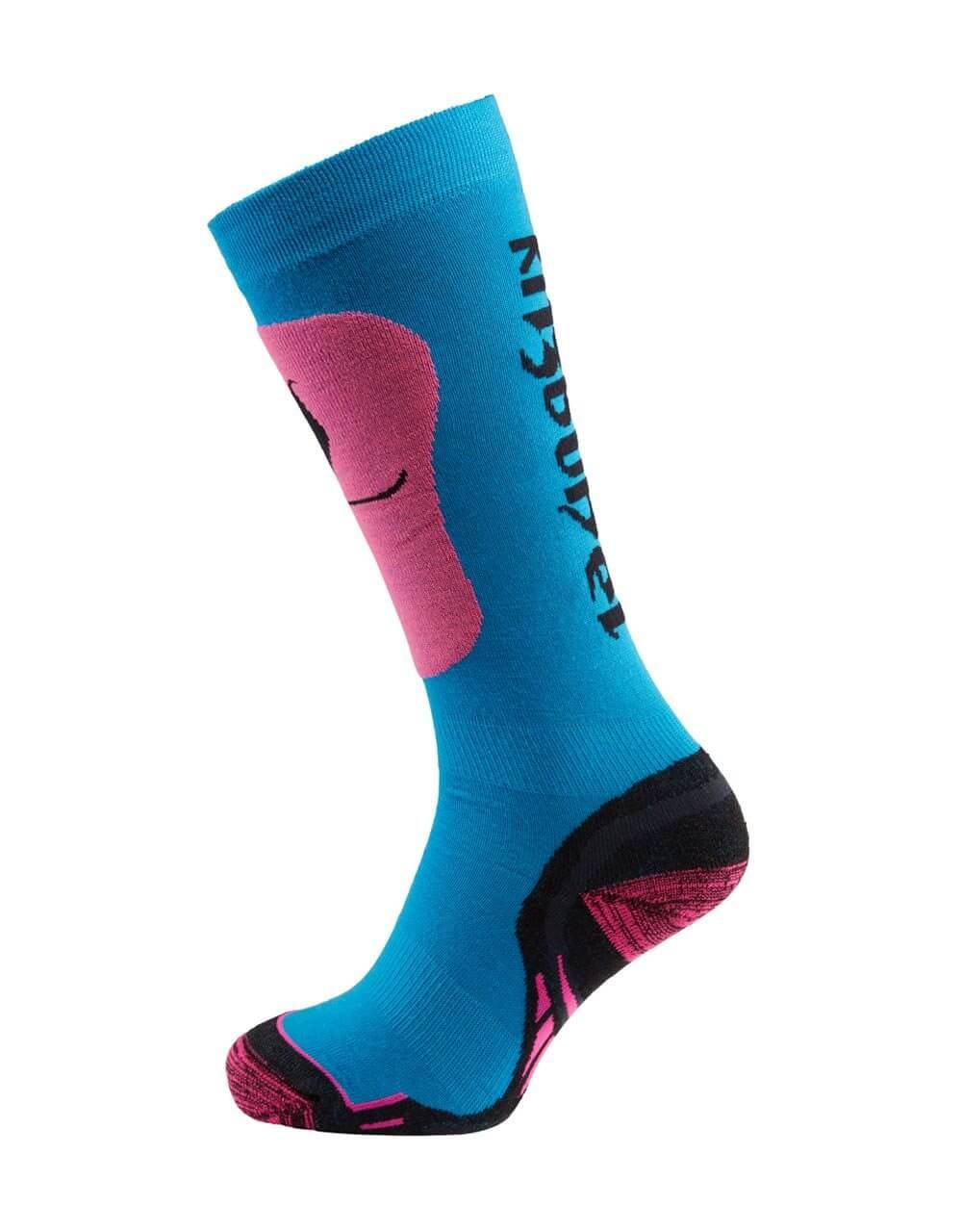 726038241 Skisocken Damen neon pink blau 2