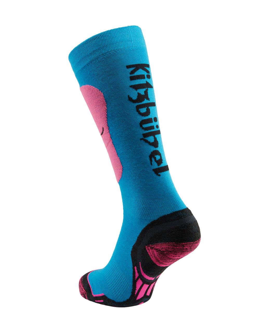 726038241 Skisocken Damen neon pink blau